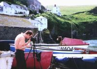 At Port Isaac, Cornwall, August 1999 (64 KB)